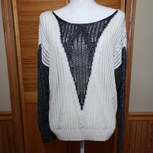 Beautiful knit PO sweater with a bit of shimmer